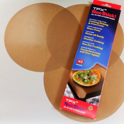 "TFX NonStick! 10"" Pizza Circle sheet (3-pack)"