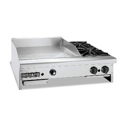American Range AR72-60TG2OB Gas Griddle, 72 in. Wide Thermostatic