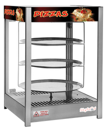 SKYFOOD PIZZA DISPLAY CASE - TRIPLE TRAY 18'' - STEAM LINE
