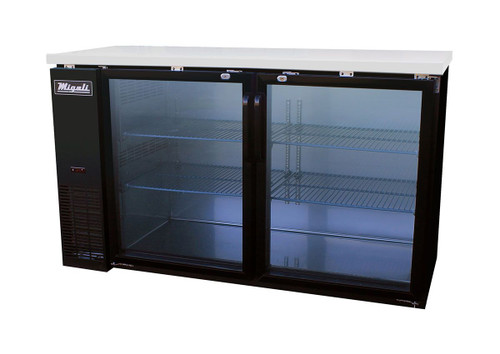 Migali C-BB60G-HC Glass Door Back Bar Refrigerator (15.8 cu ft)