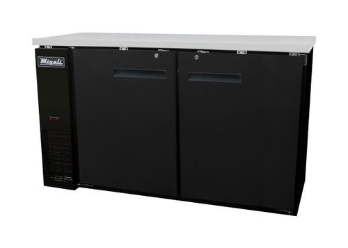Migali C-BB60-HC Solid Door Back Bar Refrigerator (15.8 cu ft)