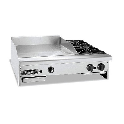 American Range AR36-24TG2OB Gas Griddle, 36 in. Wide Thermostatic