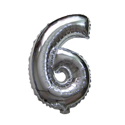 Number Balloons (Silver 6)