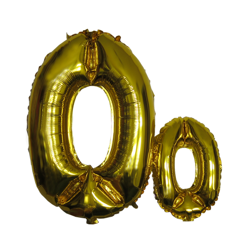 Number Balloons (Extra Large 0-9 in Gold / Silver)