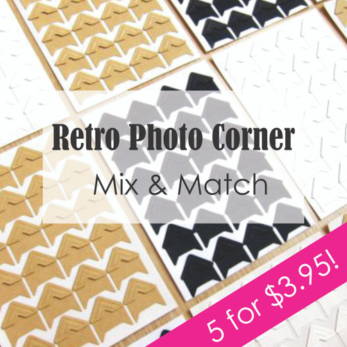 Retro Photo Corner - Mix and Match