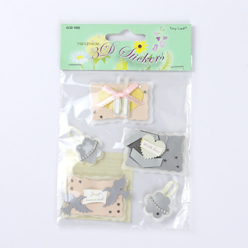 Handmade 3D Stickers - Champagne & Gift