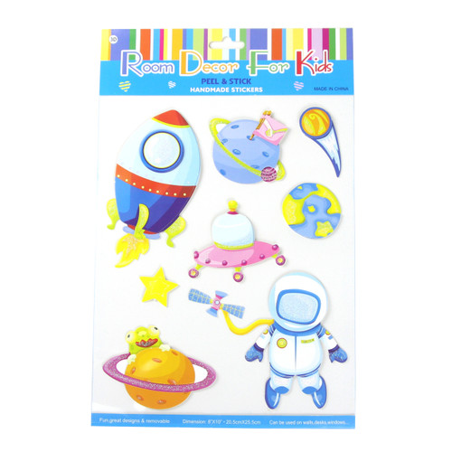 Kids Room Decor 3D Stickers - Space Travel