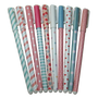Floral pattern ballpoint ink pen (10 colors pack)