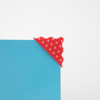 Photo Corner with Scallop Edge in Stars Dot Red 78pcs