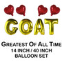 GOAT Greatest Of All Time Balloon Set (14 inch / 40 inch)