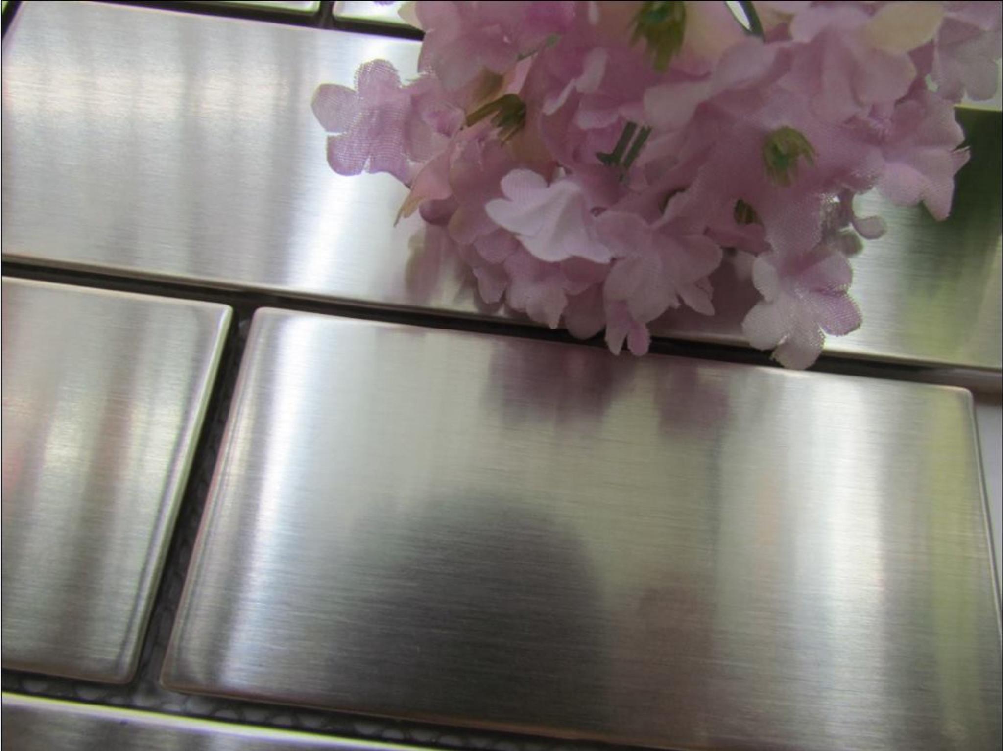 0801 Stainless Steel Subway Mosaic Tiles Exotiles