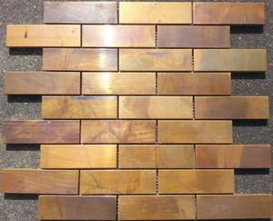 Copper mosaic tiles