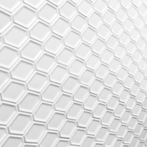 White honeycomb decorative mosaic tiles