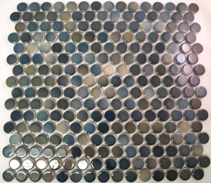 PG29 Blue Green Mix Penny Round Mosaic Tiles