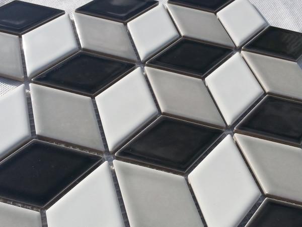 Mixed gloss cube close up