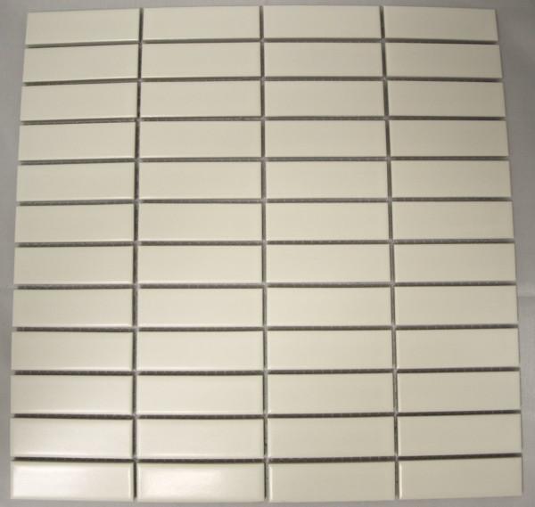 Matte white rectangle porcelain mosaic tiles