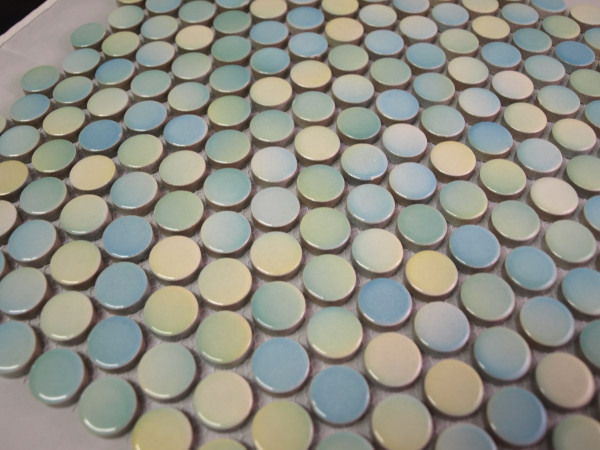 PG28 Multi-colour Penny Round Mosaic Tiles