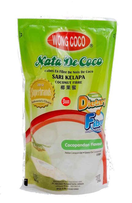 Wong Coco Nata De Coco Fibre Cocopandan Flavour 210g