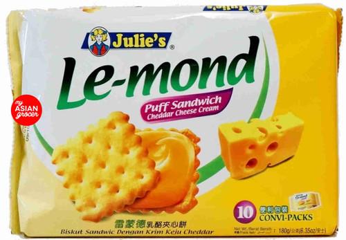 Julie's Le-mond Puff Sandwich Cheddar Cheese Cream 180g