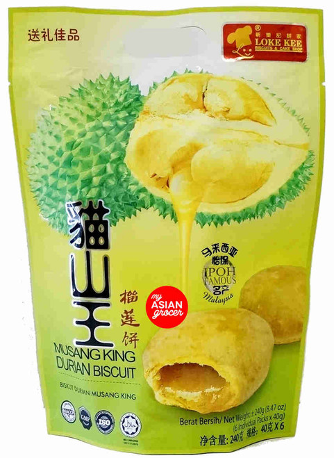 Loke Kee Musang King Durian Biscuit 240g