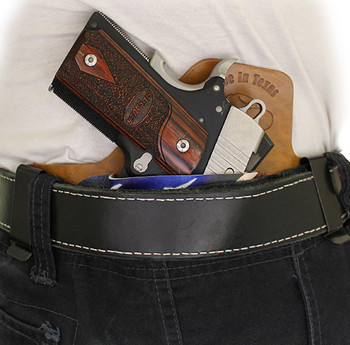 IWB hybrid MaxTuck comfortable concealment holster wearing it