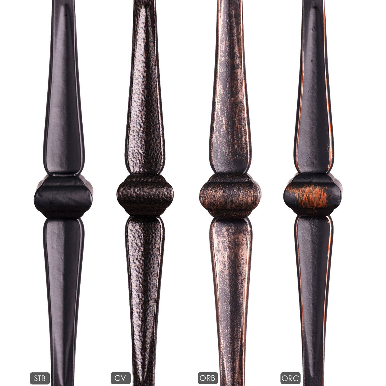 HF16.5.2 Single Knuckle Gothic Hammered Iron Baluster