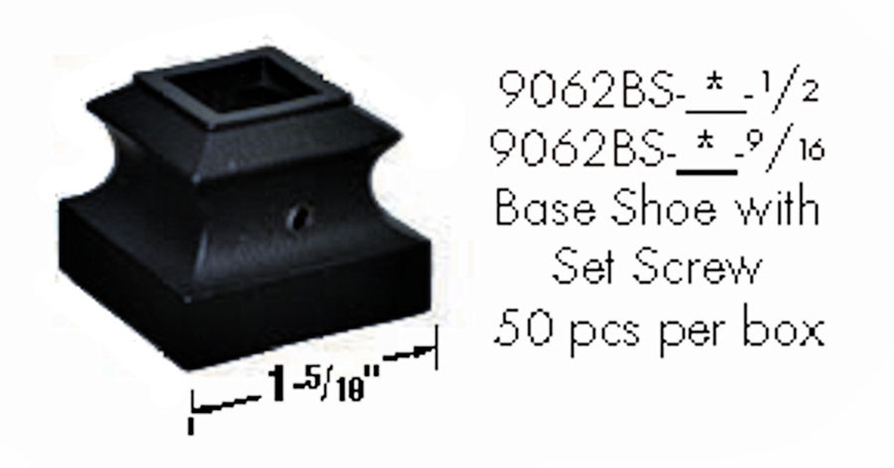 9062BS Inner Base Shoe with set screw