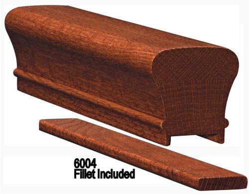 6010P American Cherry or Alder Plowed Handrail