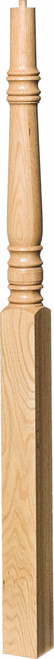 "4275 60"" Pin Top Starting Newel Post, Shown in Red Oak"
