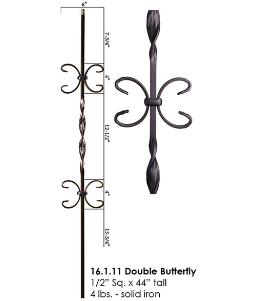 HF16.1.11 Double Butterfly Iron Baluster