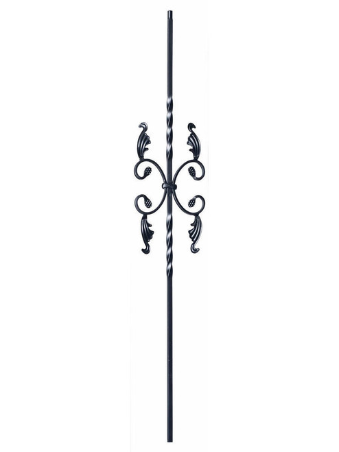 9005TB Two Twist with Leaves Iron Baluster