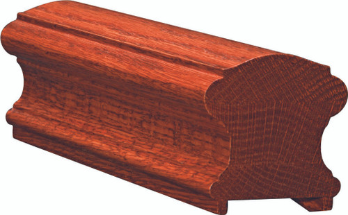 6710P Soft Maple or Ash Plowed Handrail