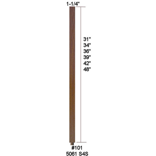 """#101 36"""" S4S Baluster"""