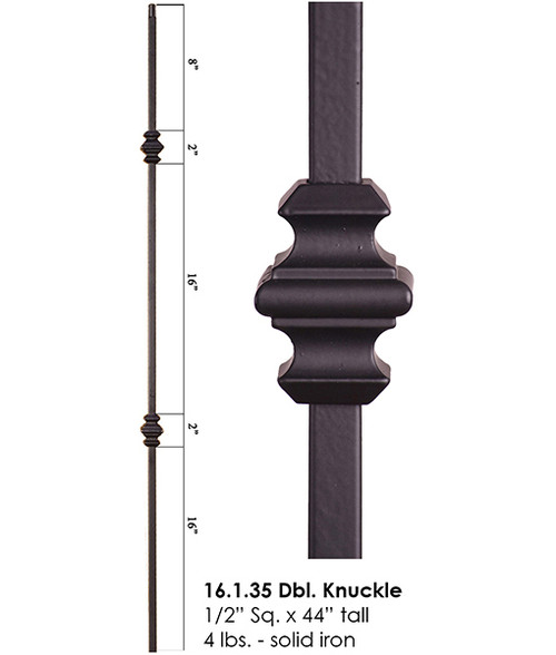 HF16.1.35 Double Knuckle Iron Baluster