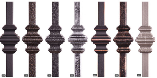 Available Powder Coatings.  Antique Nickle is only available in the HF16.1.35 Solid Iron Version.