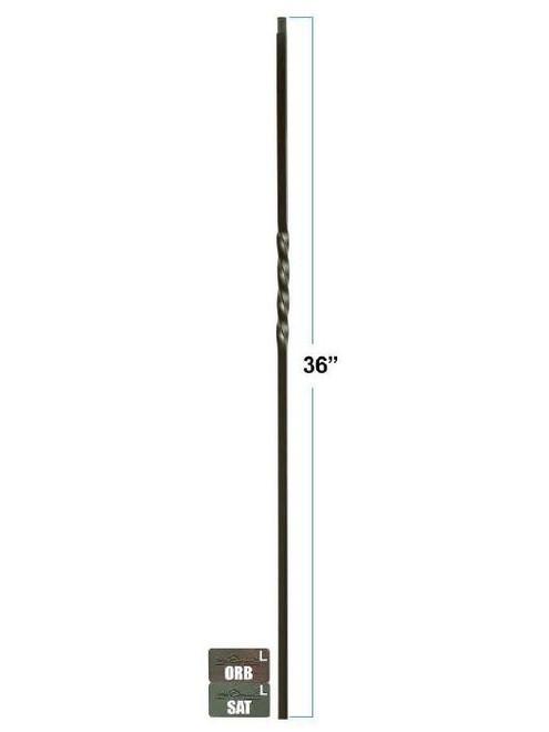 KW-1TW Single Twist Knee Wall Baluster