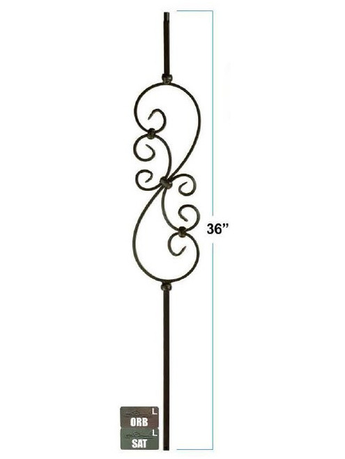 KW-M501 Feathered S-Scroll Knee Wall Baluster
