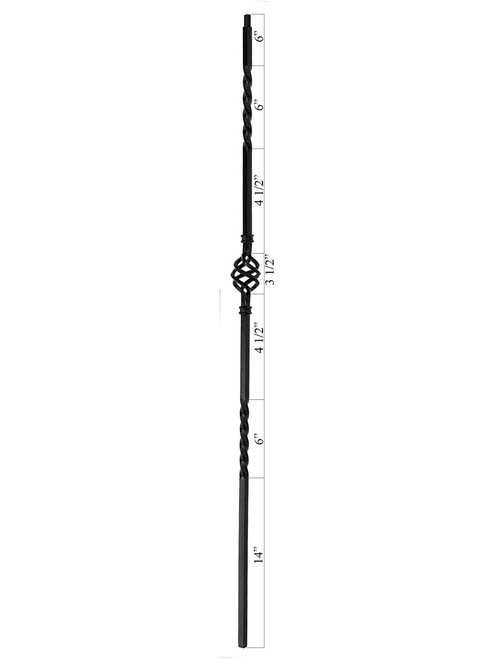 PC6/3 Single Basket 5/8-inch Iron Baluster