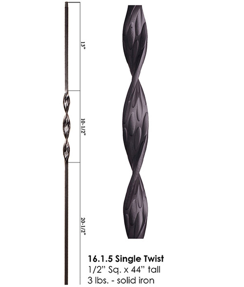 HF16.1.5 Single Ribbon Iron Baluster