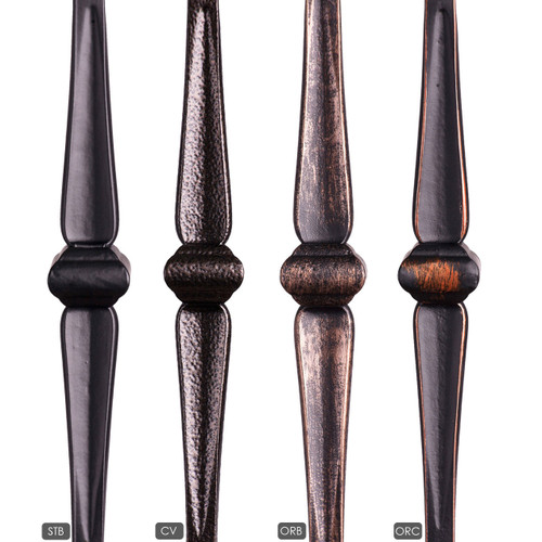 HF16.1.8 Double Knuckle Gothic Hammered Iron Baluster Available Powder Coatings