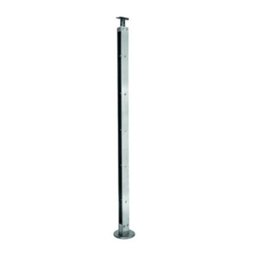 """E00665 Flat Bar Stainless Steel Newel 8 bars, 1/2"""""""
