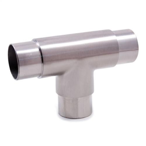 """E453 Stainless Steel 3-Way Flush Fiit """"T"""", 1 2/3"""" Tube"""