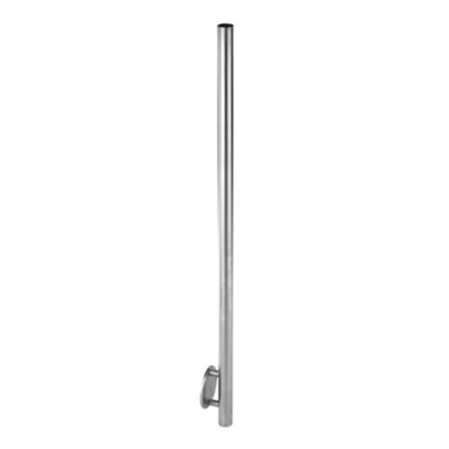 """E00450 Stainless Steel 1 2/3"""" Newel Post, Wall Mount"""