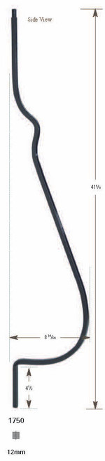 1750 Belly Baluster Iron Baluster