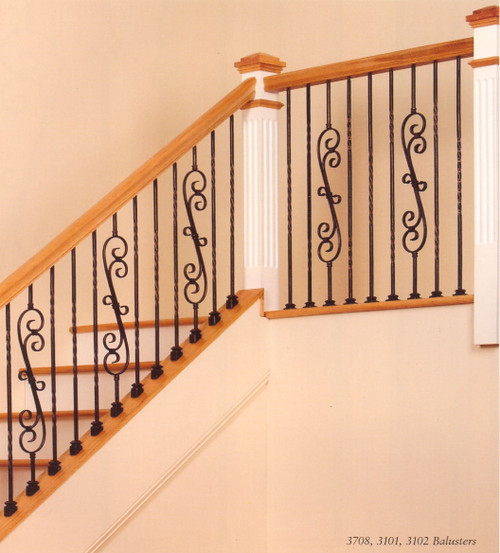 19mm Single Twist Large Hollow Baluster