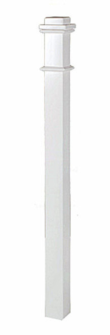 "4076 3-1/2"" x 58"" Primed Box Newel Post"