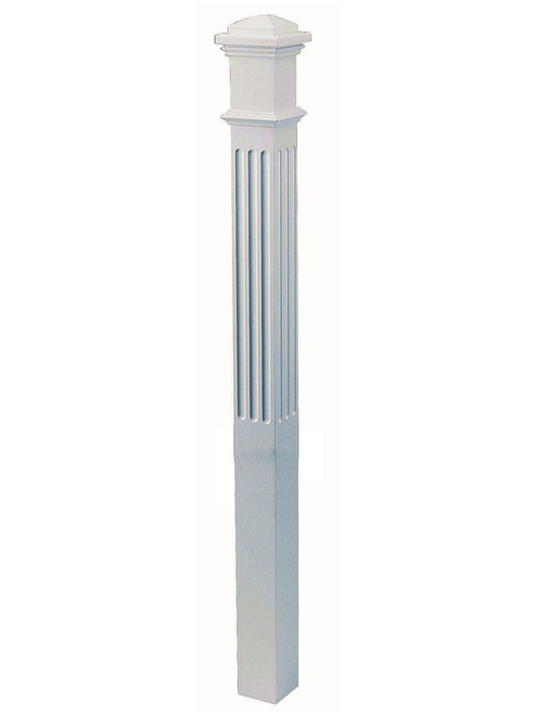 "4094-F Fluted 4"" Primed Box Newel"