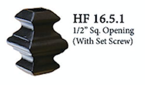 "HF16.5.1 Adj. Knuckle with Set Screw, Square 1/2"""