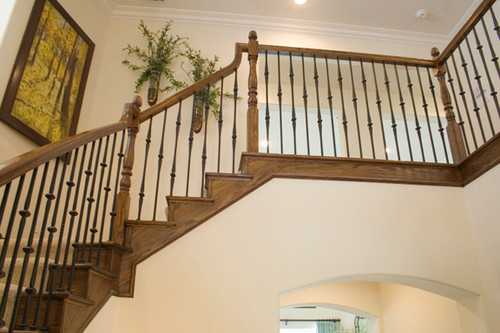 Single Knuckle Gothic Balusters with Double Knuckles.