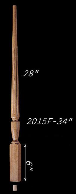 """C-2015F 34"""" Fluted Carolina Baluster"""